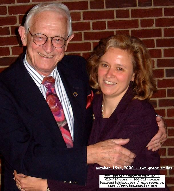 Dr. Arbuckle with graduate advisor, Dr. Alan G. MacDiarmid who received the Nobel Prize in Chemistry in 2000